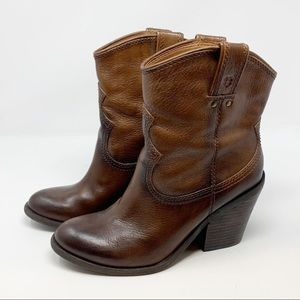 Lucky Brand Elle Leather Heeled Western Boots